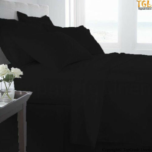 100/% EGYPTIAN COTTON BED SHEET SET SOLID 1000 THREAD COUNT CHOOSE SIZE /& COLOR