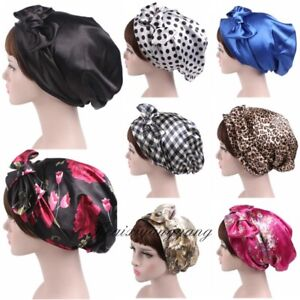 Image is loading Satin-head-scarf-Satin-head-wrap-satin-sleeping- 78fda9249ad