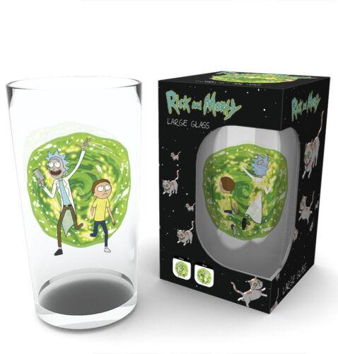 Rick and Morty Portal Large Glass