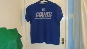 Nike-New-York-Giants-T-Shirt-Size-Adult-XL-Blue-Good-Undamaged-used-Condition