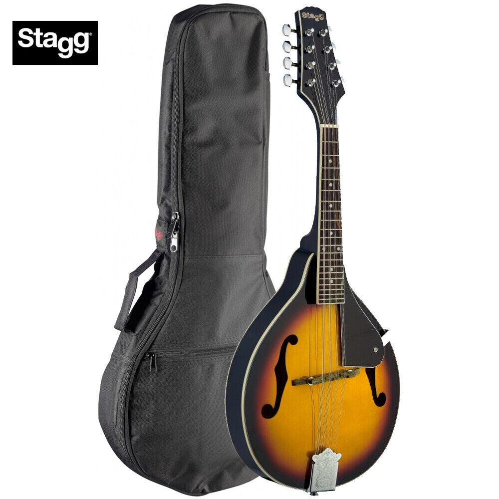 Stagg M20 A-Style Tear Drop Blaugrass 8 String Mandolin - Sunburst + Padded Bag