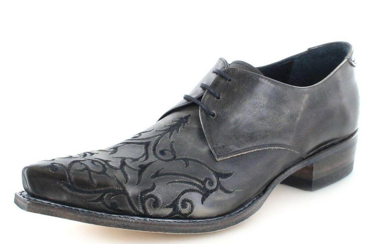 Sendra Stiefel 7650 Anthracita Westernschuh Schnürschuh Herrenschuhe Damenschuhe