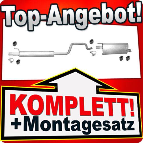 Auspuff OPEL MERIVA A 1.6 Auspuffanlage 724