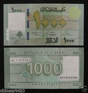 Lebanon 1000 Livres BANKNOTE 2011 UNC