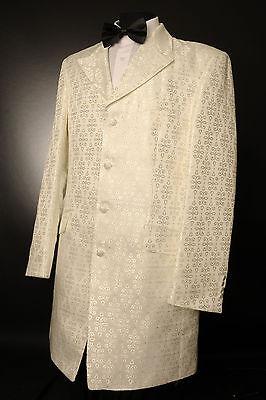 Das Beste Mj-106 Ivory And Silver Detail Prince Edward Jacket/wedding/morning/ Occasion NüTzlich FüR äTherisches Medulla