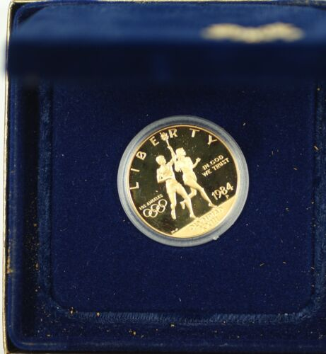 1984-P U.S Mint Proof Olympic $10 Commemorative Gold Coin as Issued