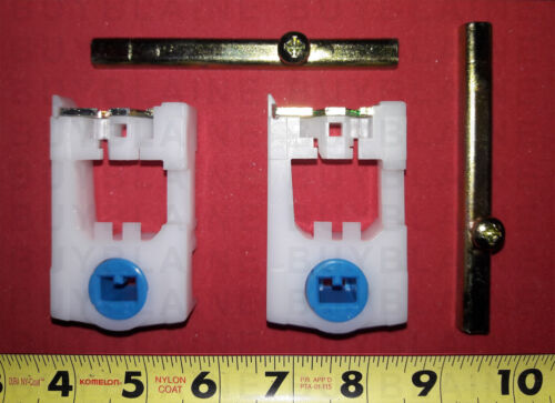 Pair of Pivot Shoes Light Blue Cam /& Window Pivot Bars for Double Hung Windows