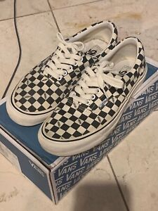 vans checkerboard white and black