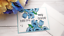 thumbnail 1 - Handmade-Greeting-Card-Miss-You-my-Friend-Friendship-Blue-Flowers-A2-Size
