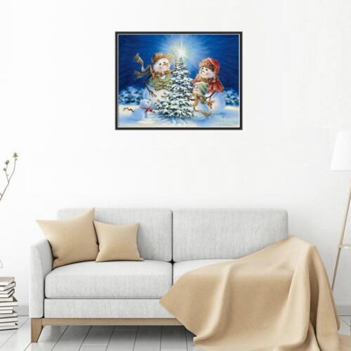 DIY 5D Diamant Malerei Stickerei Kreuzstich Kit Frohe Weihnachten Schnee
