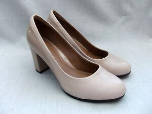 Clarks Womens 5 Basil 6 Leather Auburn Patent New Taglia Shoes 39 Nude 4tdPqnWWx