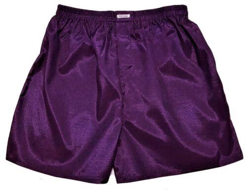 Purple ML XL 2XL Turquoise Red Mens Thai Silk Boxer Shorts 5 Pack Green Gray