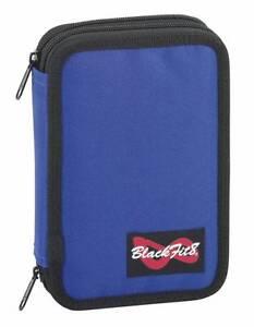 BLACK-FIT-Caja-de-lapices-estuche-Primavera-schulmaeppchen-Estuches-Azul-Oscuro