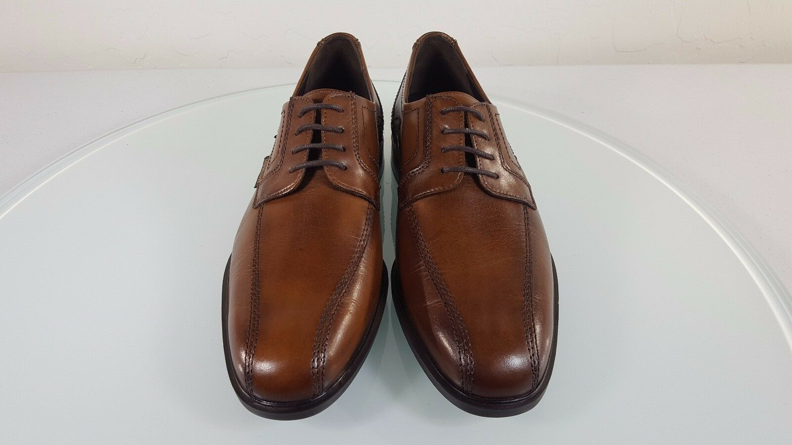 MEPHISTO 'FABIO' MENS BROWN LEATHER BICYCLE TOE OXFORD SHOES 7.5 M