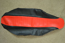 FLU  RED/BLACK PLEATED GRIPPER SEAT COVER HONDA CRF450R CRF450  2002  2003  2004