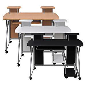 computertisch schreibtisch mobiler b rotisch computerwagen pc tisch auf rollen ebay. Black Bedroom Furniture Sets. Home Design Ideas