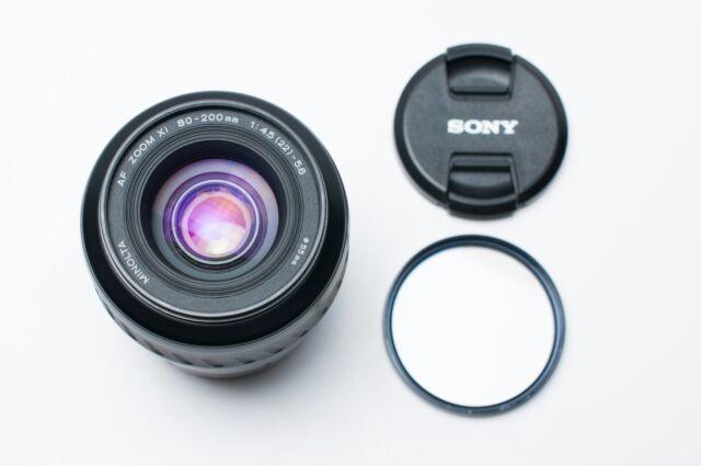Minolta AF Zoom Xi 80-200mm f/4.5-5.6 Lens Caps & Filter (#1797)