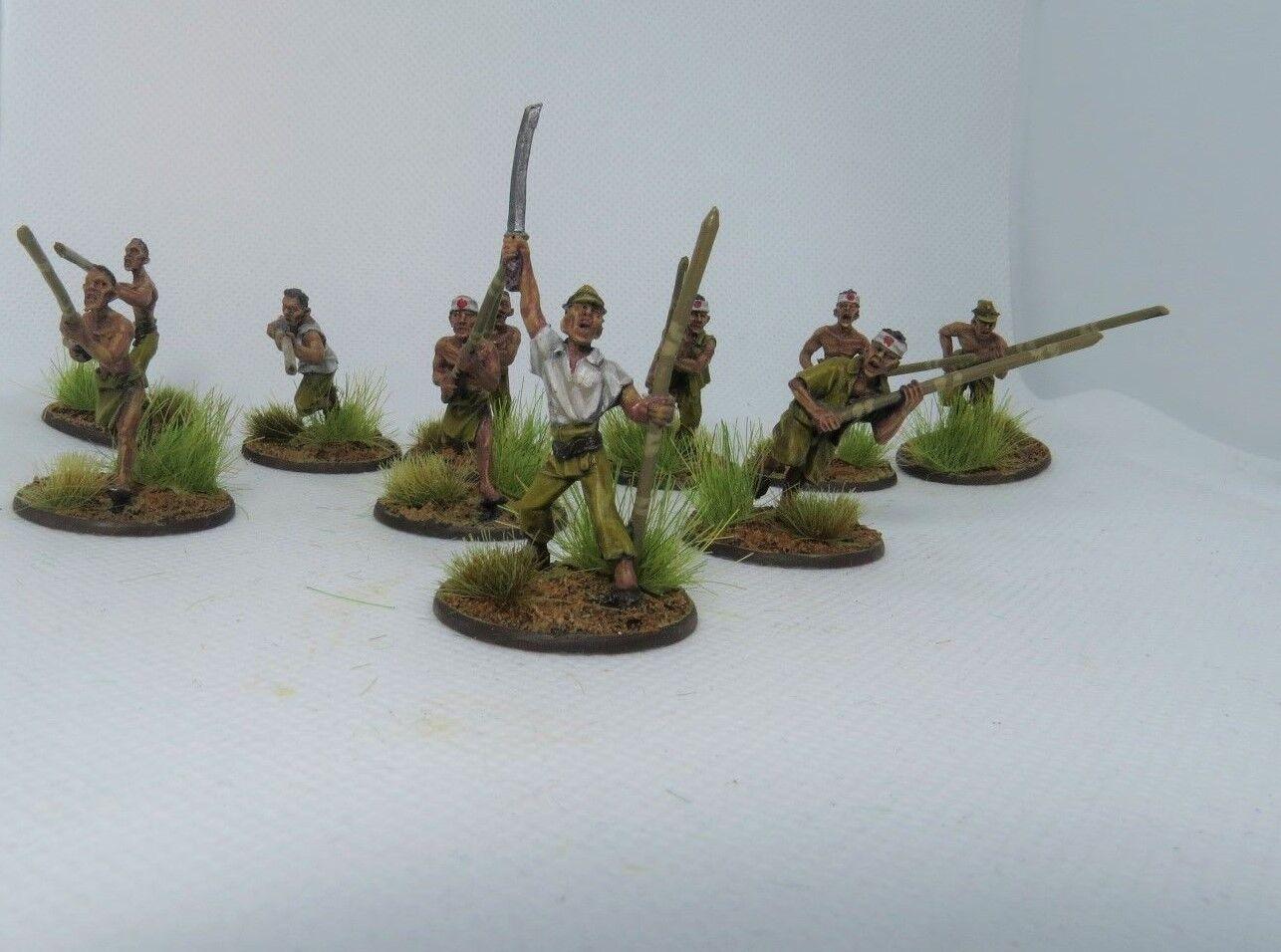 10 bolt aktion infanterie professionell gemalt, 28 mm wargaming.