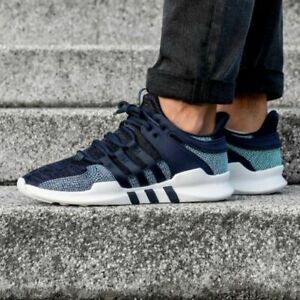 on feet images of outlet pretty nice Details about Adidas EQT Support ADV CK Parley Legend Ink Blue White CQ0299  Men's 9.5 Shoes