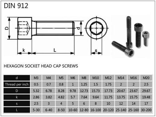 10mm, 12mm, 15mm, 17mm, 18mm, 20mm M4 Titanium Socket Head Bolt Fastener