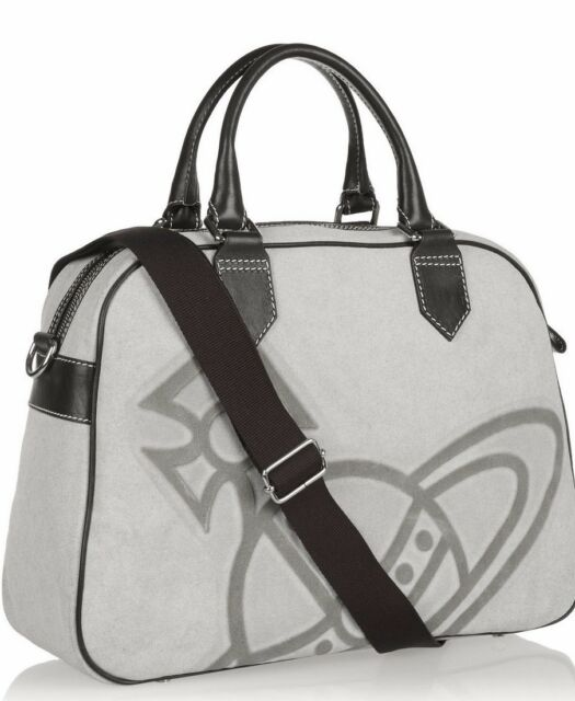 VIVIENNE WESTWOOD LARGE ICONIC ORB TOTE OVERNIGHT BAG RETAIL £520 MADE IN  ITALY 697aea4da8267