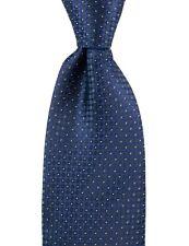 Men's ITALO FERRETTI Blue Black Polka Dot 100% Silk Neck Tie NWT $250!
