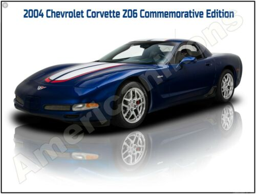 Absolute Mint! 2004 Chevrolet Corvette Z06 Commemorative Edition New Metal Sign