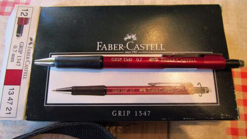 FABER-CASTELL Druckbleistift GRIP 1347 metallic-rot 134721