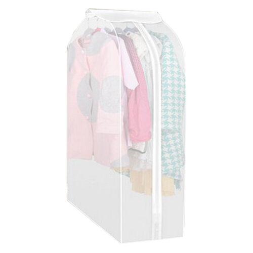 Garment Suit Coat Dustproof Cover Clothes Hanging Bag Wardrobe Organizer Storage