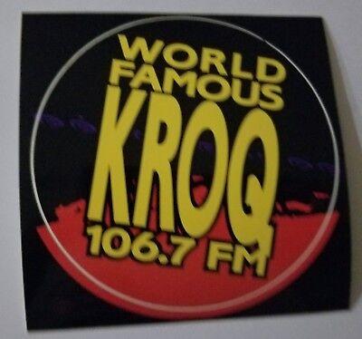 Vintage Rare WORLD FAMOUS KROQ 106.7 FM Radio Station Sticker 2000 Deftones