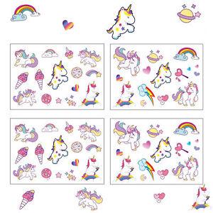 Einhorn-Sticker-farbenfrohe-selbstklebende-Aufkleber-Unicorn-Kinder-Geburtstag