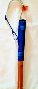 CUSTOM CALCUTTA BAMBOO GAFF 3/0 MUSTAD HOOK -6 FT, DARK & LIGHT BLUE #21/10-6-3