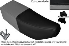 BLACK & GREY CUSTOM FITS SUZUKI CP 50 80 LEATHER DUAL SEAT COVER ONLY