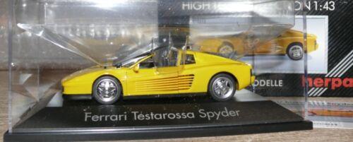 Z2  Herpa  010313 Ferrari Testarosso Spyder gelb  1:43