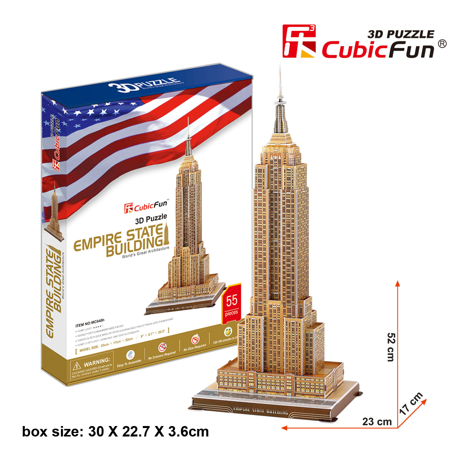 Details about New Empire State Building New York USA 3D Model Jigsaw Puzzle  55 Pieces MC048H
