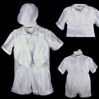 Baby Boys Communion Christening Baptism Shorts Set Outfit Suit (new Born - 36m)