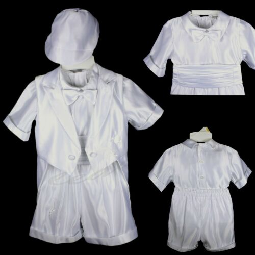 New Born - 36M Baby Boys Communion Christening Baptism Shorts Set Outfit Suit