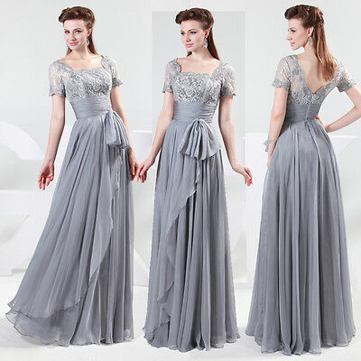 RETRO LACE MASQUERADE Ball Evening Dress Mother Of Bride Long Cocktail Prom Gown