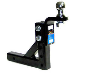 Adjustable-Trailer-10-034-Drop-Hitch-Ball-Mount-2-034-Receiver-With1-7-8-034-hitch-ball