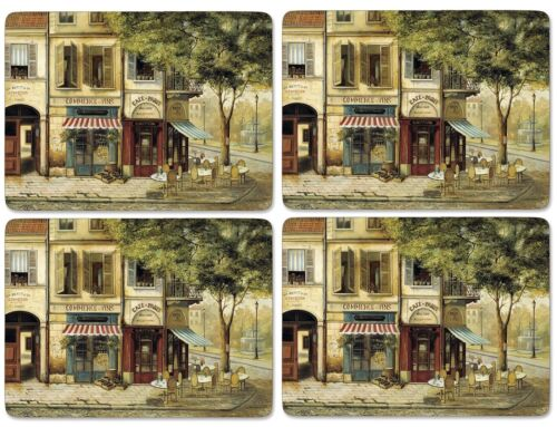 """Pimpernel Parisian Scenes Placemats S//4 16/"""" X 12/"""""""