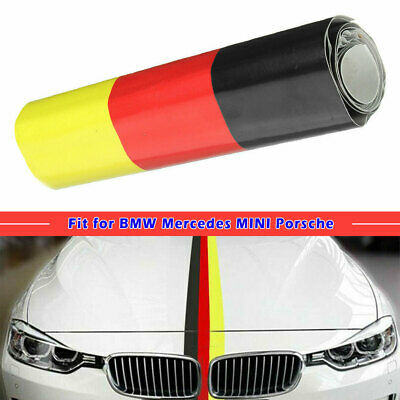 "59/"" Germany Flag Stripe Car Hood Body Sticker for BMW Mercedes MINI Porsche"