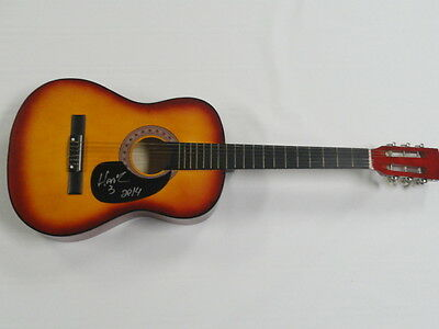 HANK III SIGNED SUNBURST ACOUSTIC GUITAR COUNTRY WILLIAMS PROOF AUTOGRAPHED 3