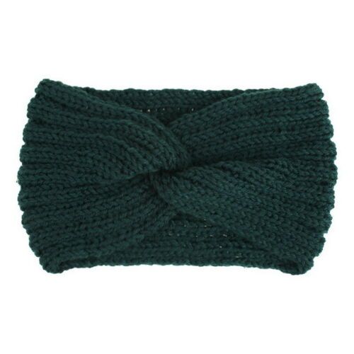 Womens Knitted Cross Knot Headband Head Wrap Ear Hair Band Winter Crochet Turban