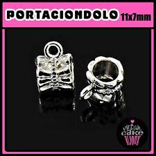 5pz PORTA CIONDOLO PENDENTE minuteria componenti materiale faidate crea bijoux