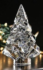 420-Baccarat-Crystal-Noel-Megeve-Fir-Christmas-5-034-Tree-MINT-IN-BOX-2809174