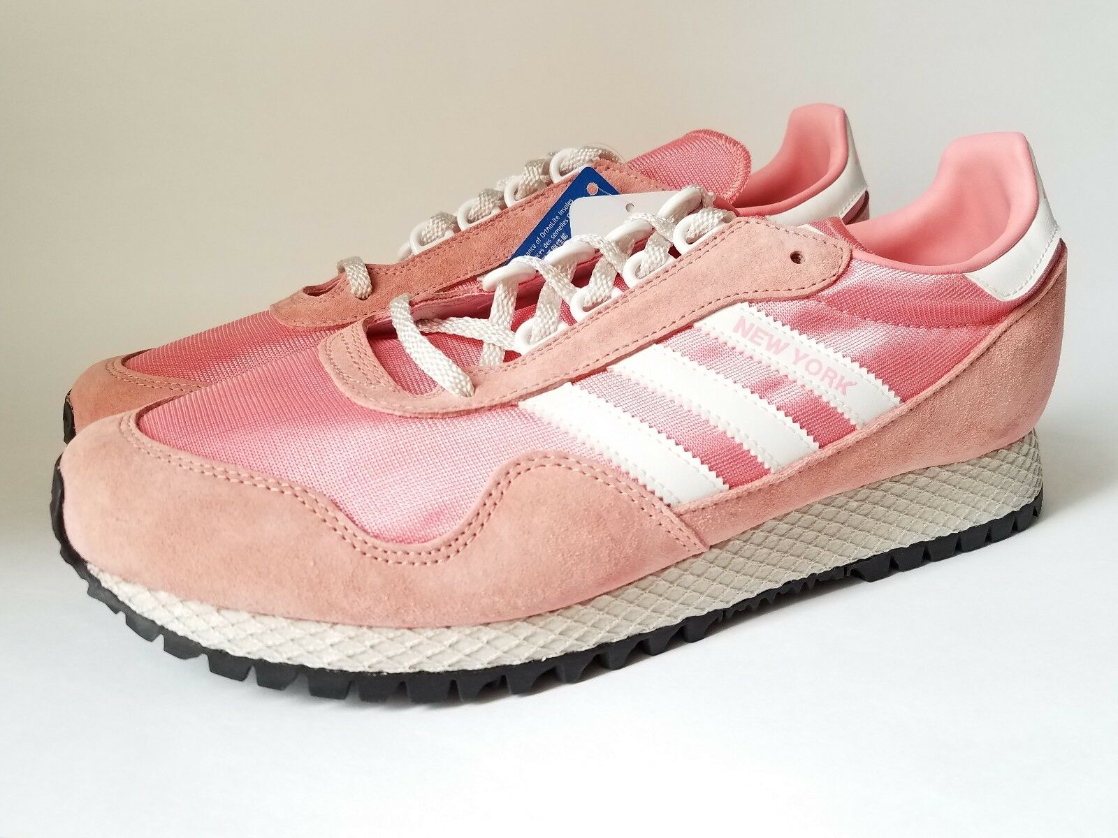 ADIDAS ORIGINALS NEW YORK MEN'S SHOES SIZE 10 PINK BY9341