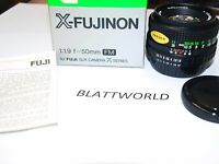 Original Fuji Fujifilm Fm 50mm F1.9 X- Fujinon Lens Fujinon X Series In Box