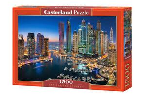 "Brand New Castorland Puzzle 1500 SKYSCRAPERS OF DUBAI 27"" x 18.5"" C-151813"