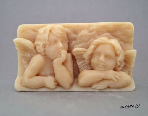 ANGELS SILICONE MOULD SOAP RESIN PLASTER CLAY WAX MOLD  5,5OZ CHERUB ANGEL