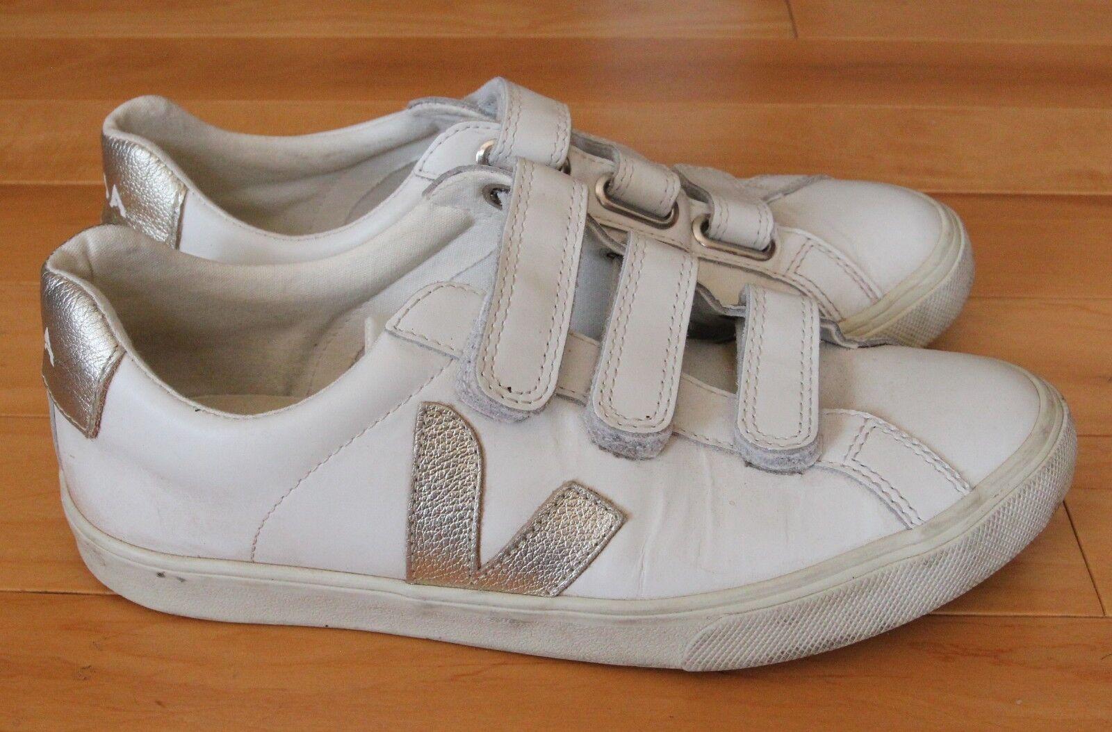 Veja Esplar Schuhes WEISS Silver Größe 8